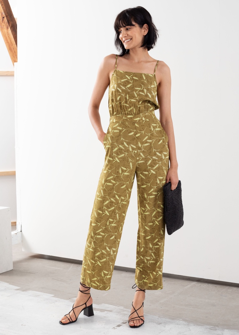 & Other Stories Square Neck Flared Jumpsuit $99