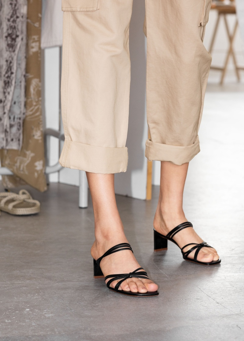 & Other Stories Strapped Knotted Heeled Sandals $129