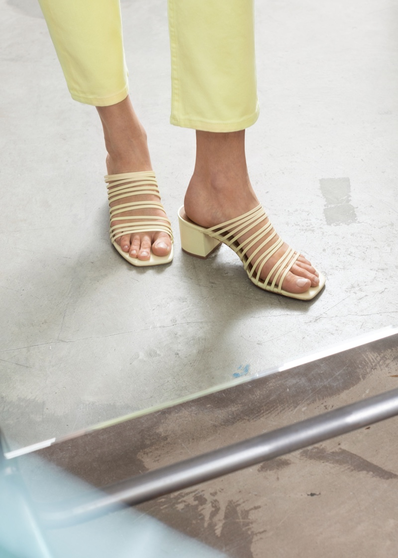 & Other Stories Strappy Square Toe Heeled Sandals $129