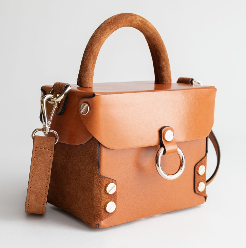 & Other Stories Structured Leather Suede Box Bag $149