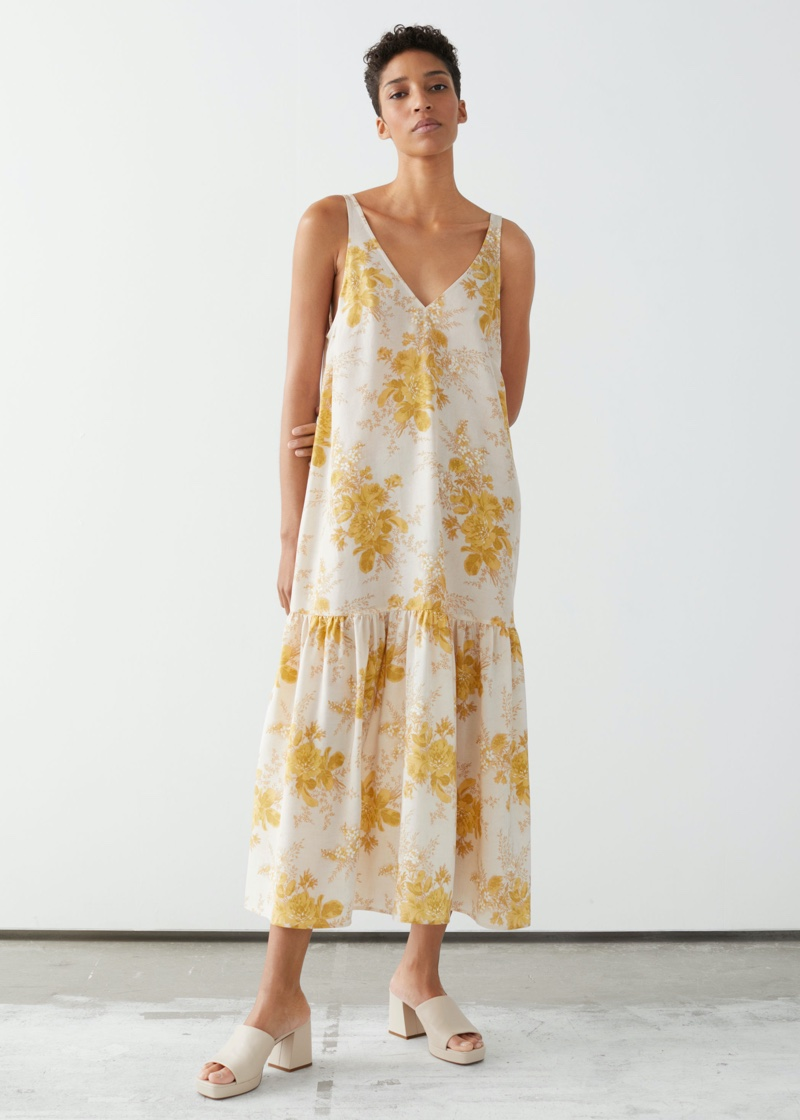 & Other Stories Voluminous Silk Maxi Dress $249