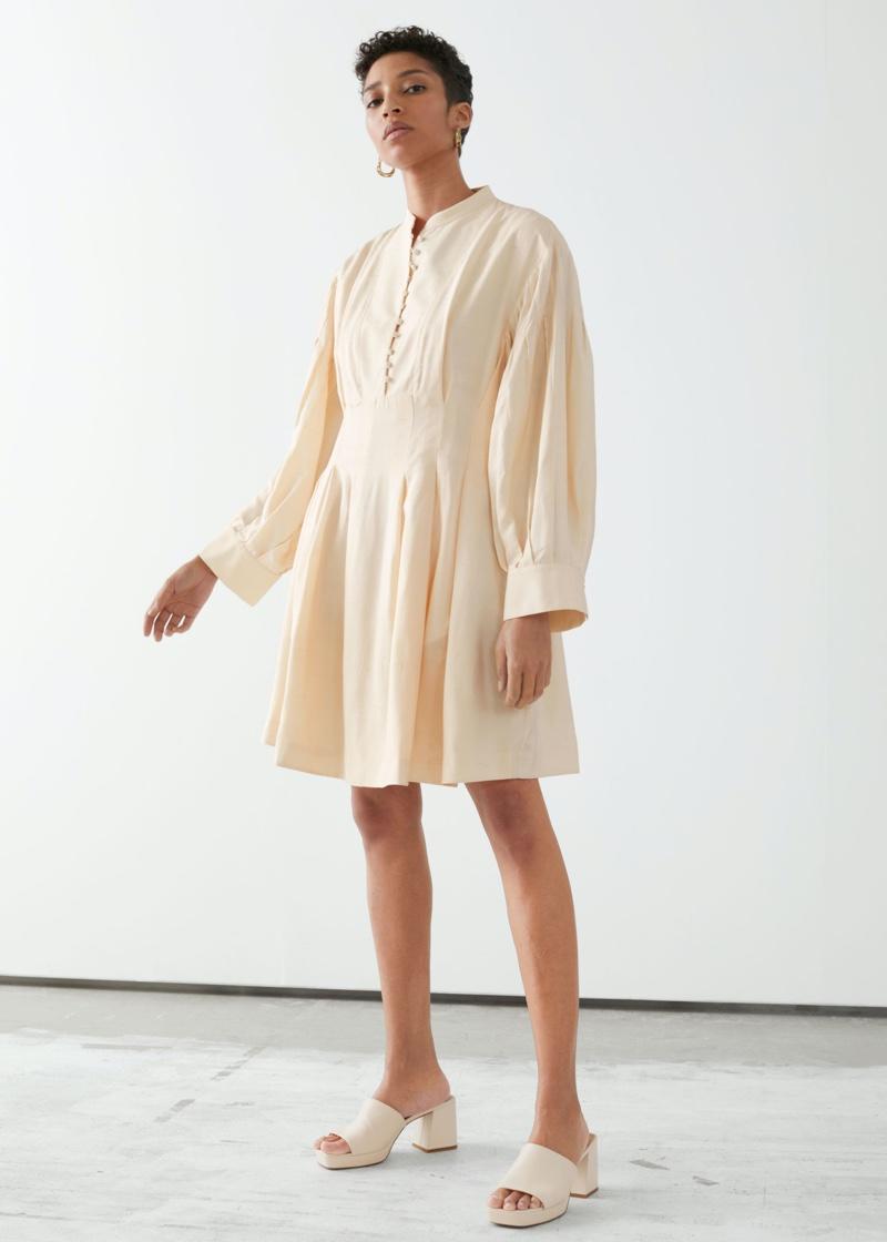 & Other Stories Voluminous Silk Mini Dress $279