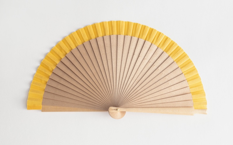 & Other Stories Wooden Stripe Fan $69