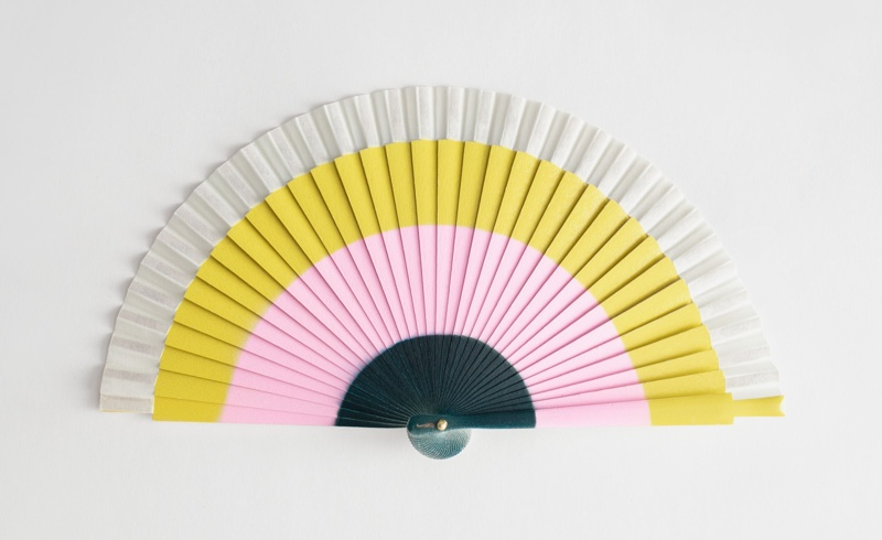 & Other Stories Wooden Striped Fan $99
