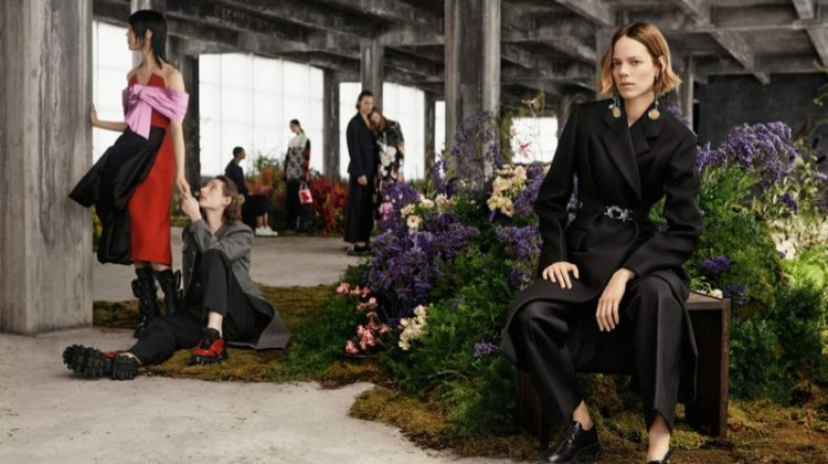 Freja Beha Erichsen stars in Prada fall-winter 2019 campaign