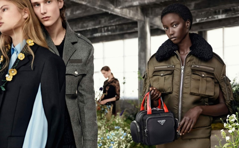 Wellington Grant and Anok Yai front Prada fall-winter 2019 campaign