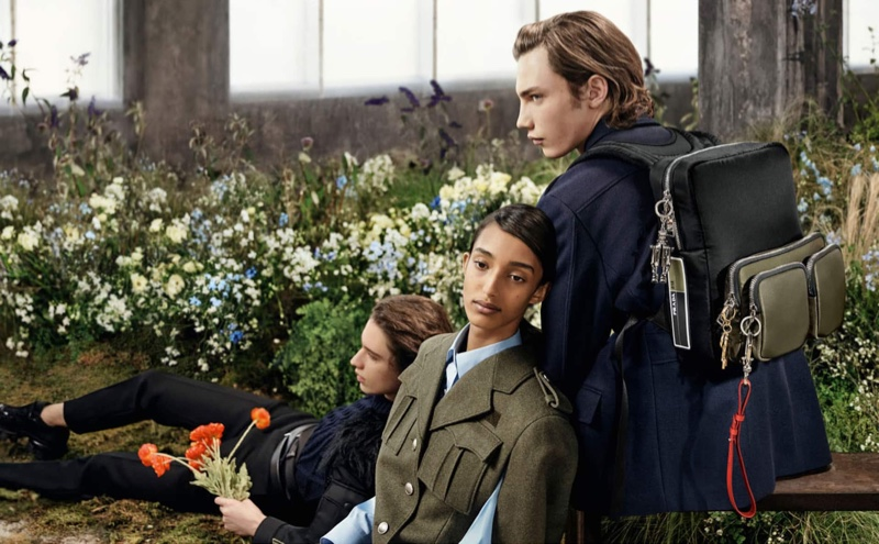 Prada sets fall-winter 2019 campaign amongst florals