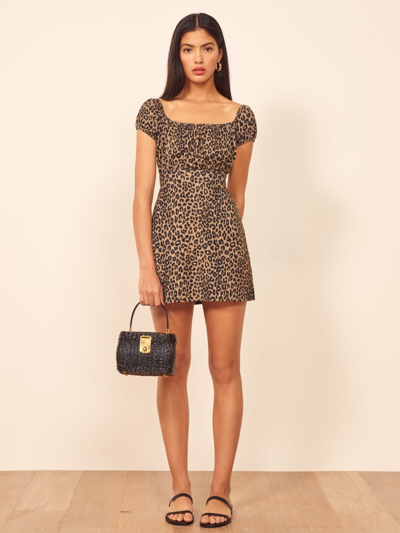 Reformation Echo Dress in Cougar $98