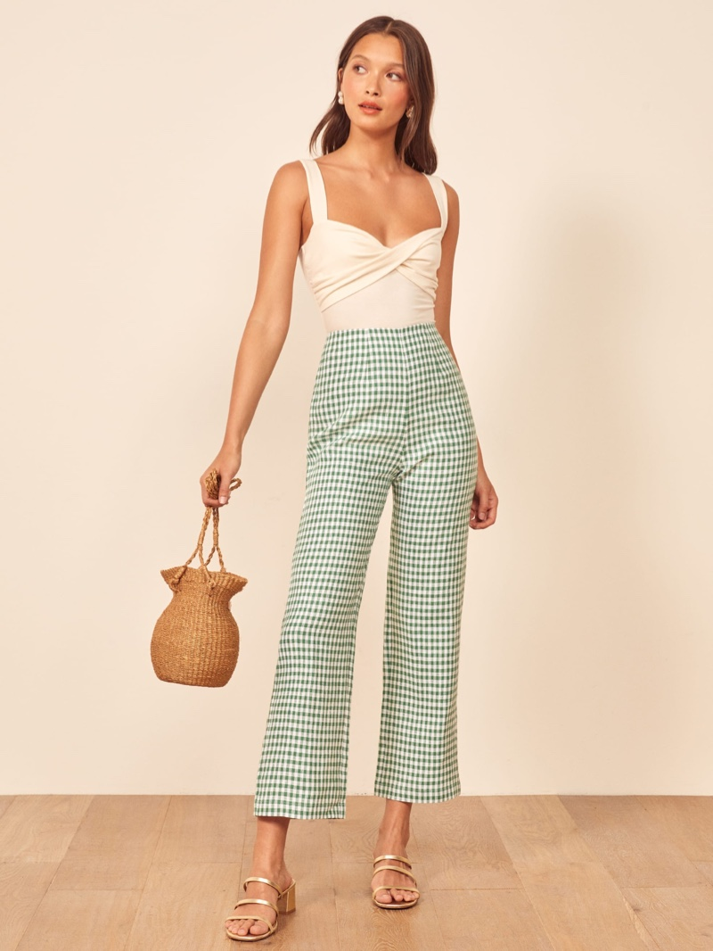 Reformation Noble Pant in Palms $158