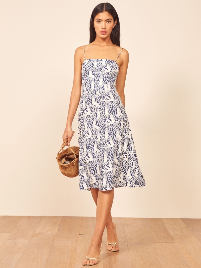 Reformation Peach Dress in Au Naturale $198