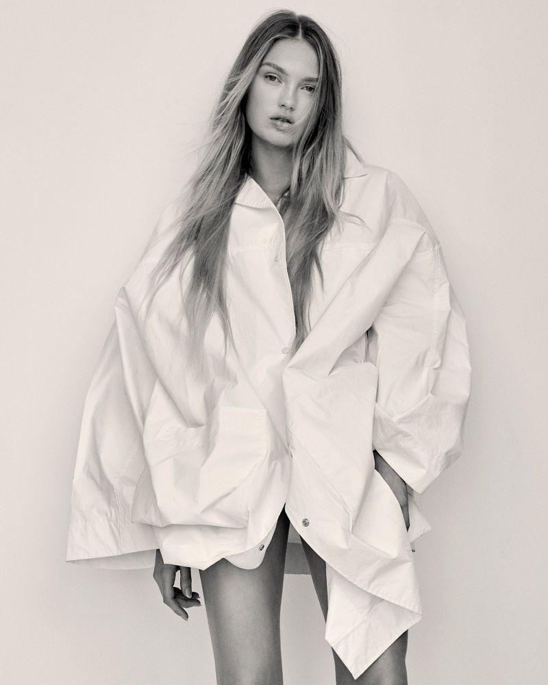 Romee Strijd Models Sleek Fashions for Unconditional Magazine