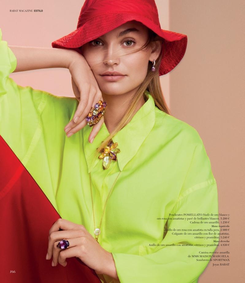 Roosmarijn de Kok Poses in Vibrant Gems for Rabat Magazine