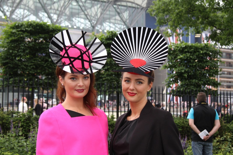 Women wearing fashionable looks at the Royal Ascot