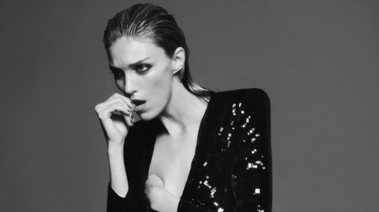 Model Anja Rubik appears in Saint Laurent fall 2019 campaign