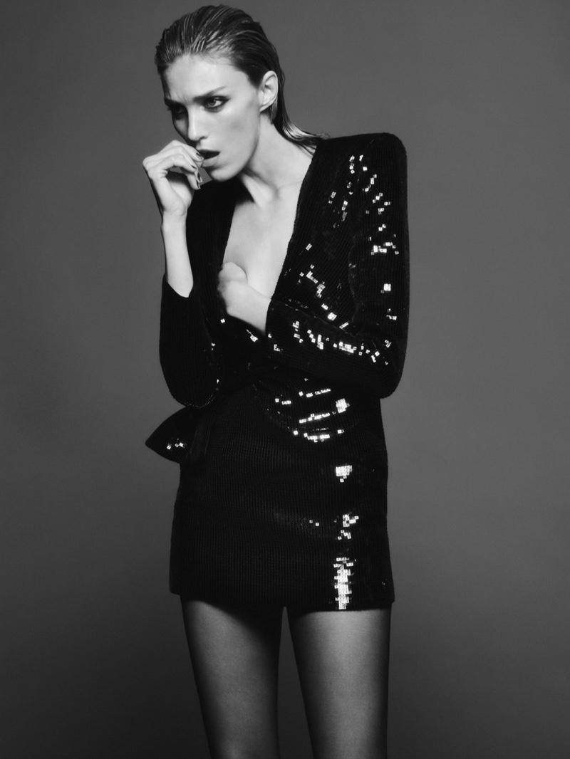 Model Anja Rubik appears in Saint Laurent fall 2019 campaign