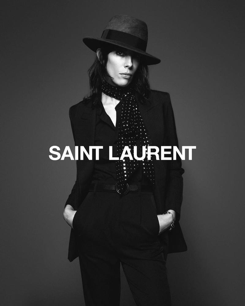 Saint Laurent taps Jamie Bochert for fall 2019 campaign