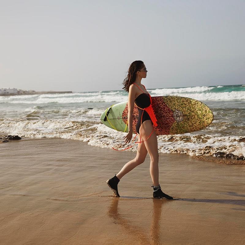 Sanne de Roo Models Surfer Style for Marie Claire Netherlands