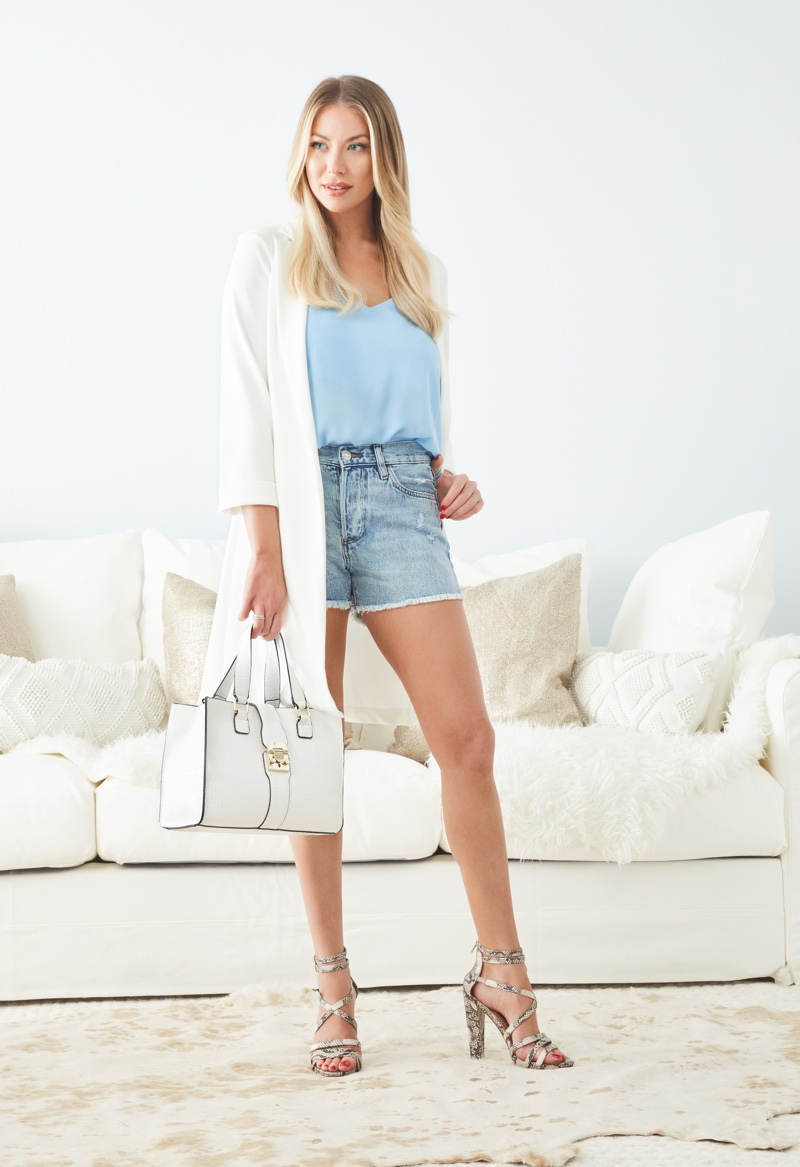 Keeping it casual, Stassi Schroeder fronts JustFab collaboration campaign