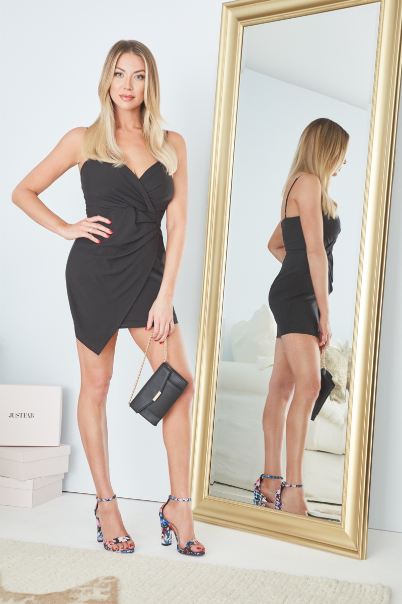 Style star Stassi Schroeder wears little black dress from JustFab collaboration