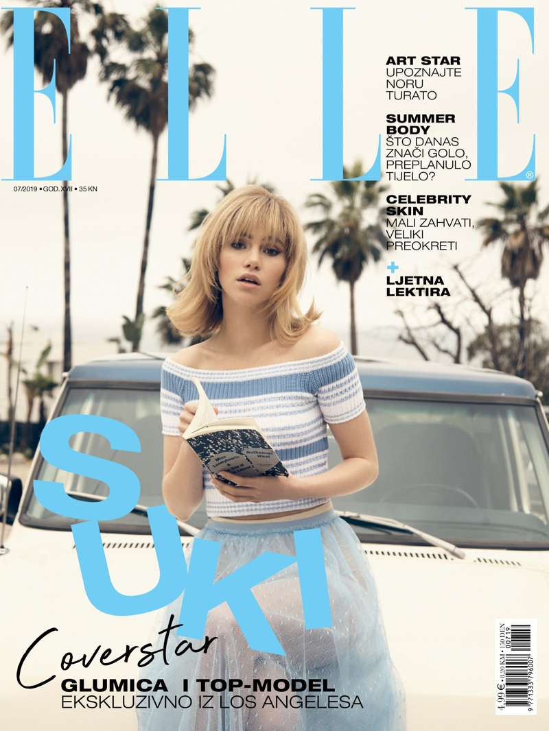 Suki Waterhouse Poses in Retro Styles for ELLE Croatia