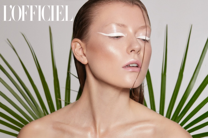 Sylwia Plochocka Wears Eye-Catching Beauty for L'Officiel Lithuania