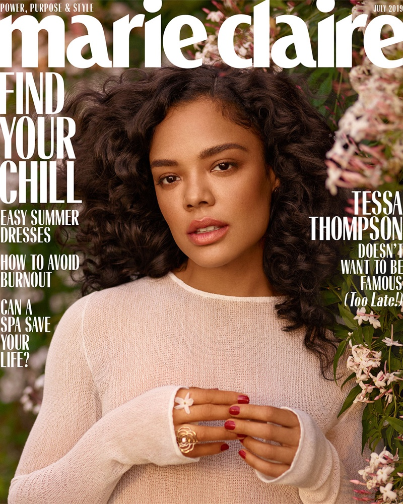 Tessa Thompson on Marie Claire US July 2019 Cover