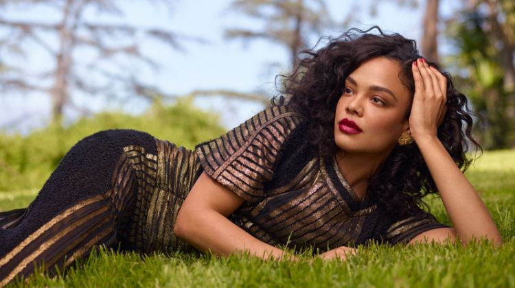 Tessa Thompson Poses in Elegant Looks for Marie Claire