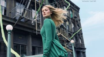 Toni Garrn Embraces Statement Fashion for Harper's Bazaar