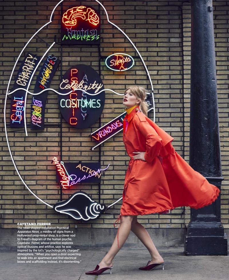 Toni Garrn Embraces Statement Fashion for Harper's Bazaar