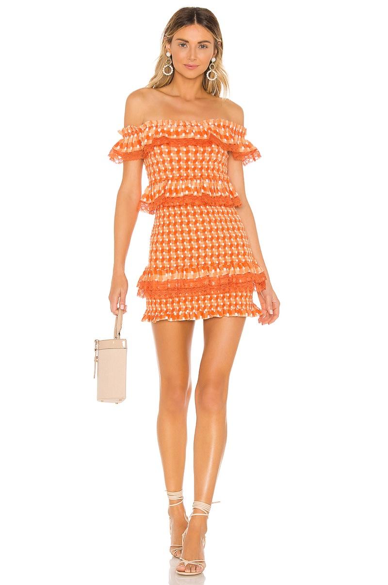 Tularosa Teri Dress in Tangerine $168
