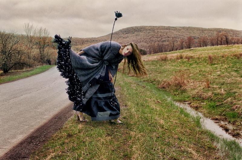 Model Leila Goldkuhl appears in Ulla Johnson pre-fall 2019 campaign