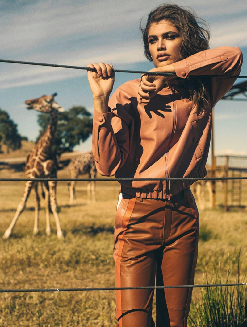 Valentina Sampaio Looks Safari Chic for Woman Spain