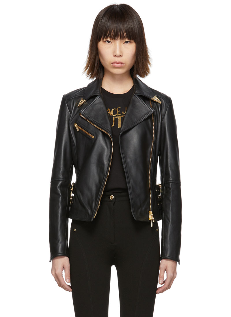 Versace Jeans Couture Leather Perfecto Jacket $1,175