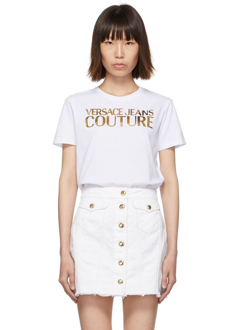 Versace Jeans Couture White Logo T-Shirt $125