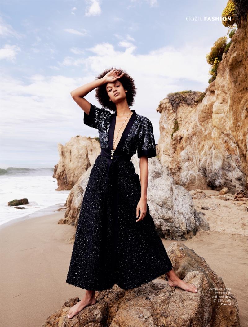 Wallette Watson Poses in Dreamy Dresses for Grazia UK