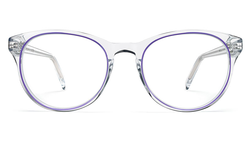 Warby Parker Jane Glasses in Crystal with Bramble $145