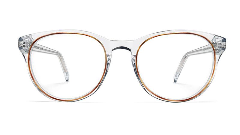 Warby Parker Jane Glasses in Crystal with Oak Barrel $145