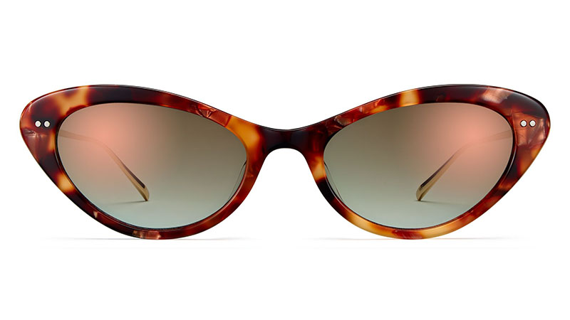 Warby Parker Naomi Sunglasses in Copper Leaf Tortoise with Gold $145