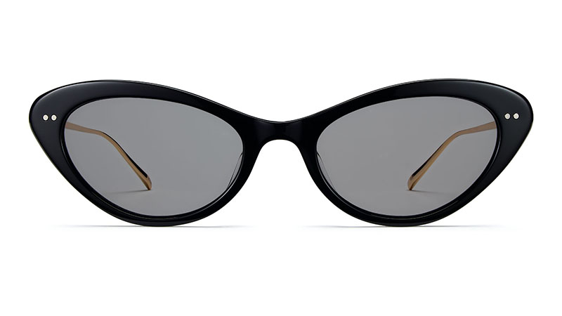 Warby Parker Naomi Sunglasses in Jet Black with Gold $145
