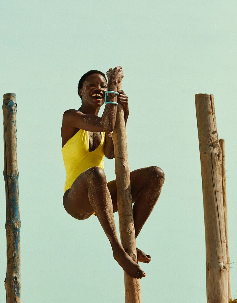 Wayne Booth Wears Vibrant Swimsuit Style for El País Semanal