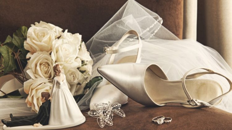 Wedding Heels Accessories Bride Groom Figurine