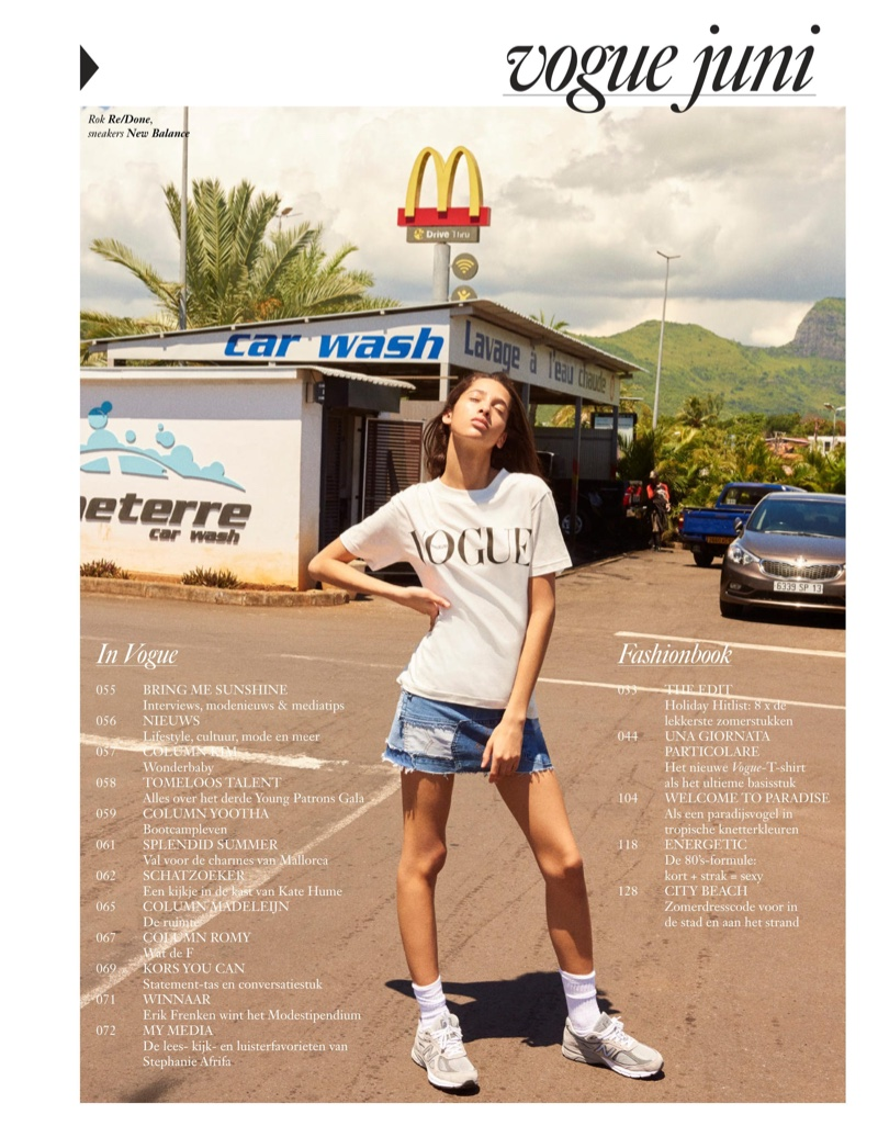 Yasmin Wijnaldum Models Summer Style for Vogue Netherlands