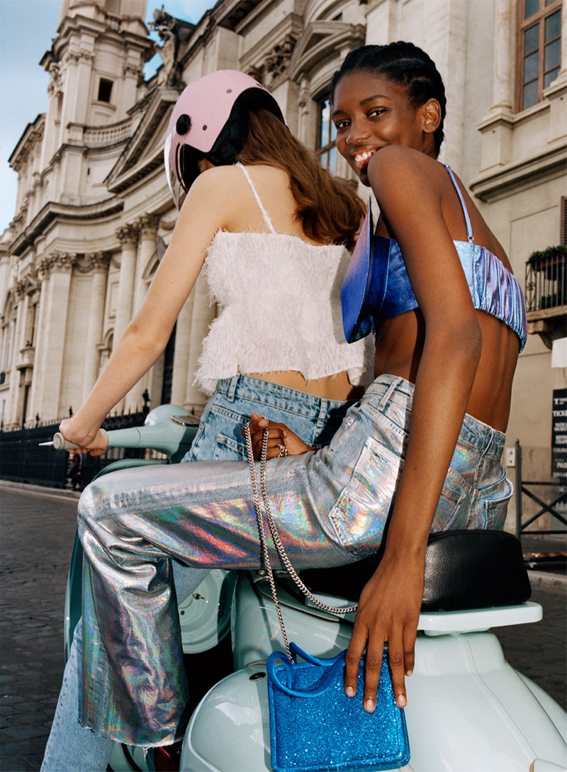 Laurijn Bijnen and Elibeidy Dani front Zara TRF Bella Roma spring-summer 2019 lookbook