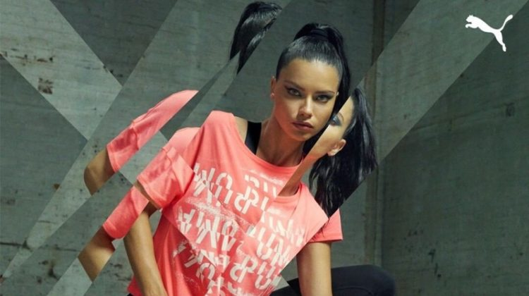 Striking a pose, Adriana Lima fronts PUMA LQD Cell Shatter campaign