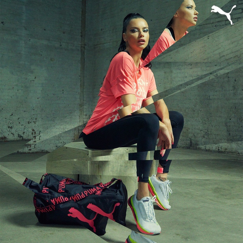 PUMA taps Adriana Lima for LQD Cell Shatter campaign
