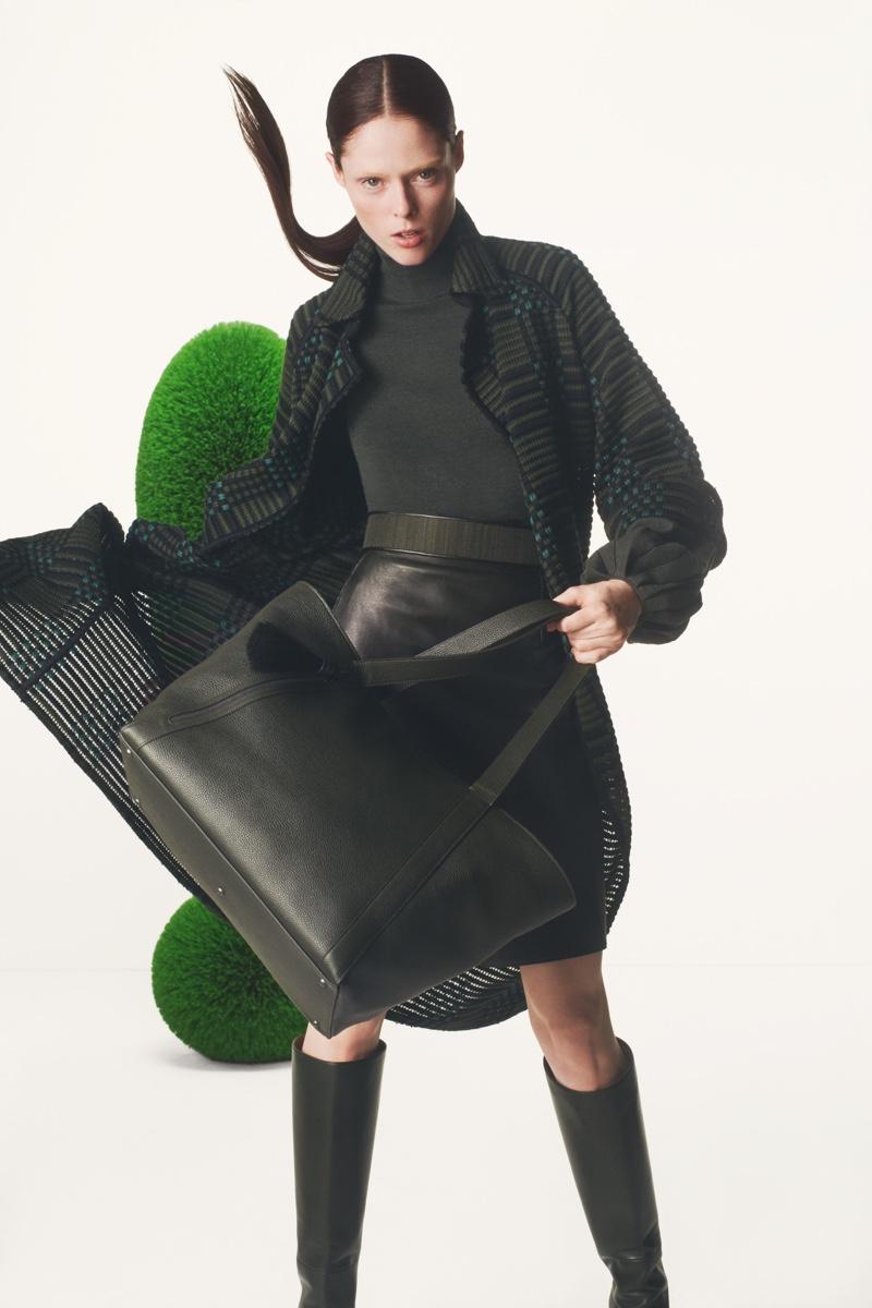 Model Coco Rocha appears in Akris fall-winter 2019 campaign