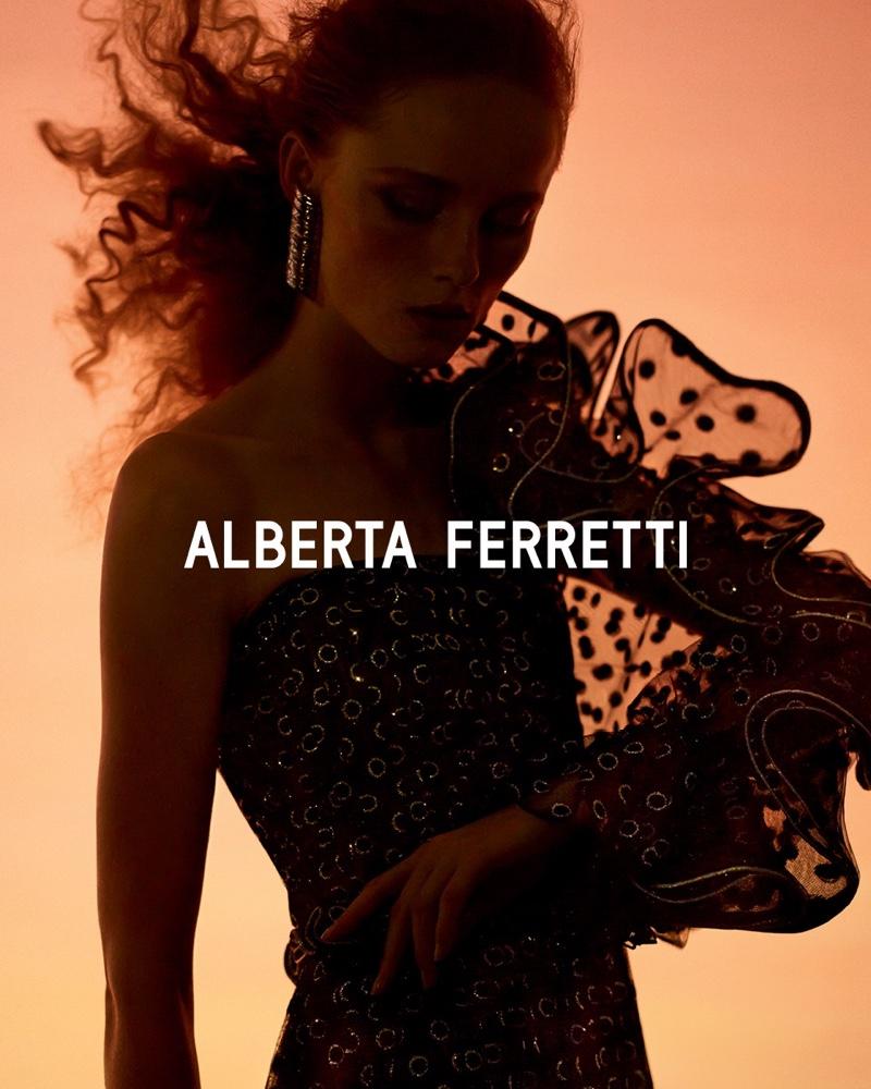 Alberta Ferretti spotlights ruffles for fall-winter 2019 campaign