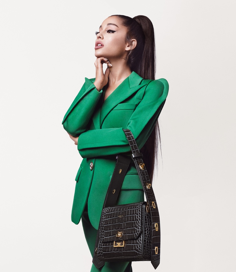 Singer Ariana Grande suits up in Givenchy fall-winter 2019 campaign