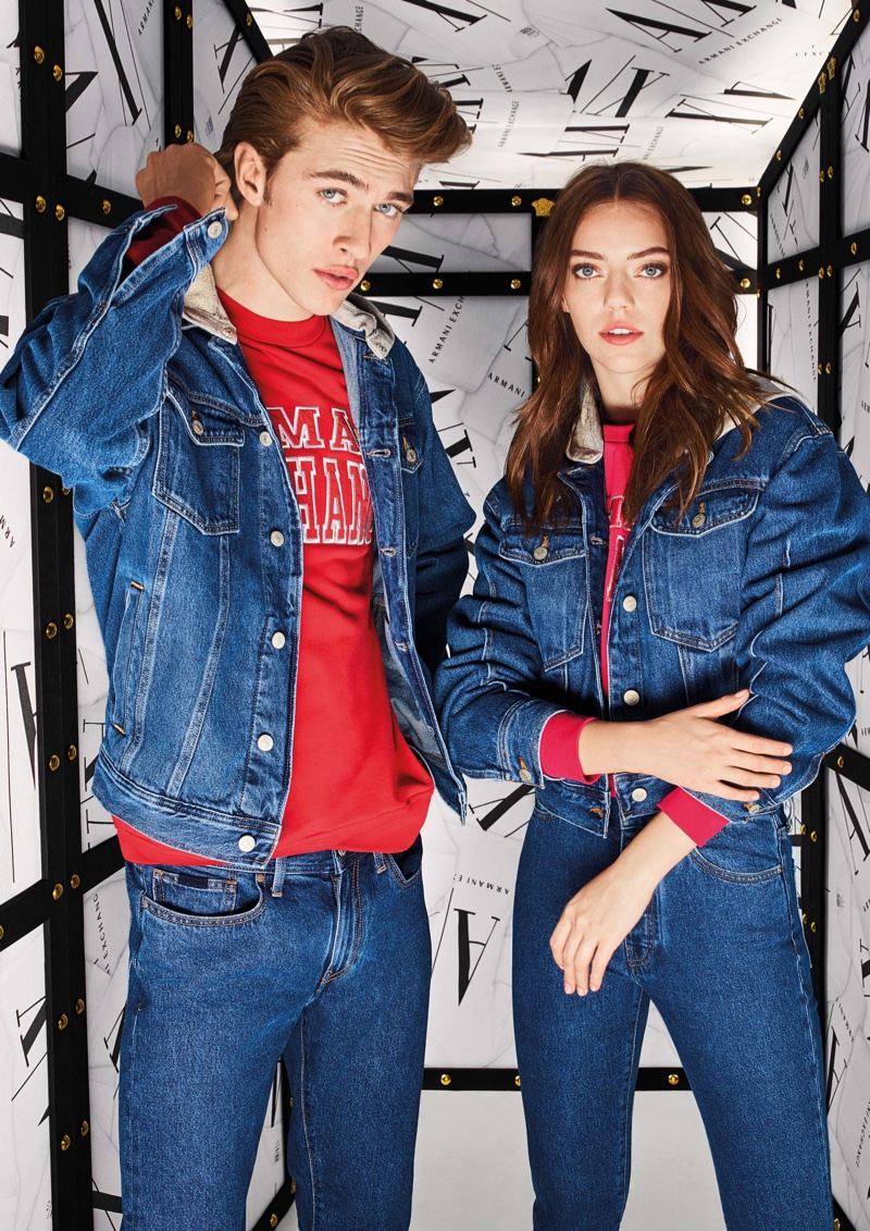 Lucky Blue and Pyper America Smith star in Armani Exchange fall-winter 2019 campaign