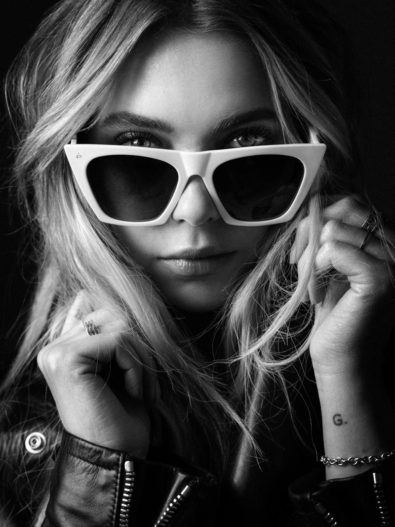 Actress Ashley Benson wears Prive Revaux The Victoria sunglasses